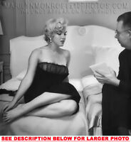 MARILYN MONROE INTERVIEW IN BED (1) RARE 5X7 PHOTO