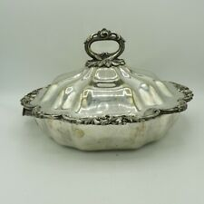 Antique quality silverplated entree serving dish large with warmer