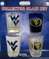 WEST VIRGINIA University 4pc college Shot Glass Set