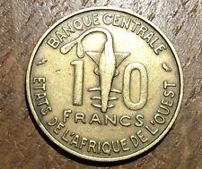 PIECE DE 10 FRANCS AFRIQUE DE L'OUEST 1966 (63)