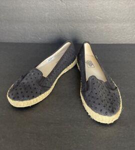 VANS Kvd Espadrille Jute Board Shoes Women's 6 Black Canvas