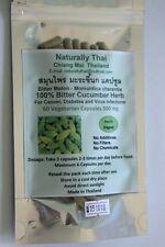 Organic Bitter Cucumber (Bitter Melon) 100% - 350mg x60 Veg Capsules