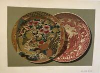 Beautiful Imp Firmin- Didot Paris Lithographs Of Rare Japanese Porcelain C. 1880