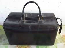 Ancienne Sacoche de médecin 1950 Rigide fermeture éclair Vintage Cuir Homa