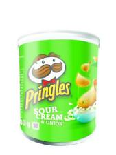 Pringles Crisps Sour Cream and Onion Pack 12x40g Tubs Pots Price Marked 69p