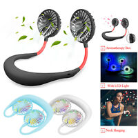 Rechargeable Sports fan USB Portable Hands-free Neck Hanging desk travel fitness