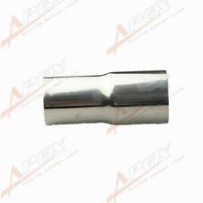 "2"" 51mm ID To 2 1/4"" 57mm OD Stainless Steel Exhaust Reducer Connector Pipe"