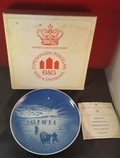 BING & GRONDAHL JULE AFTER COLLECTORS PLATE DENMARK CHRISTMAS 1972 Greenland box
