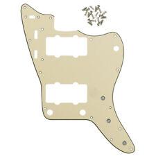 New 1pcs Cream 3Ply PVC Vintage JM Pickguard & Screws for FD Jazzmaster Guitar