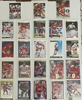 🏒HOF Sergei Fedorov 23-CARD LOT with ROOKIE 1990-91 Upper Deck #525, no dupes
