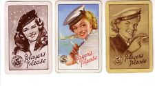 3 x Vintage Players Navy Cut Cigarette Advertising  = Swap Playing Cards