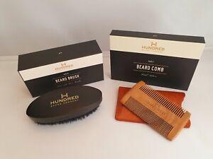 Beard Kit, Boar Bristle Beard Brush No 2 & Handcrafted Beard Comb No 1, Gift Set
