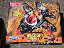 Fisher Price Rescue Heroes Camouflage Rescue Jet, Factory sealed, MIB