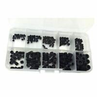 200PCS M3 M4 M5 M6 M8 Hex Head Socket Hex Grub Screw Set Assortment Kit(Bla F6O8
