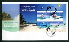 2019 Cocos Island Water Sports (Mini Sheet) FDC - Cocos Island PMK