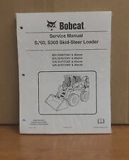 Bobcat S250 S300 Skid Steer Loader Complete Shop Service Manual Repair 6904158