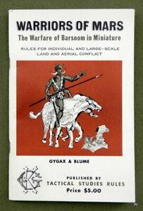 WARRIORS OF MARS - Gary Gygax 1974 Ultrarare TSR publication - Nice shape! D&D