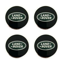 Land Rover Black With Green Oval Polished Wheel Center Hub Caps Set Genuine Fits Land Rover Discovery