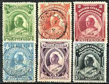 Niger Coast 1894 issue, SG 51 - 56, Mint Hinged & used, CV £150