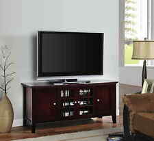 "Kings Brand 54"" Dark Cherry Wood Plasma TV Console Stand Entertainment Center"