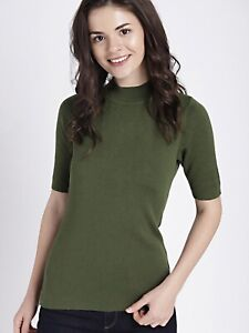 GAP Top Short Sleeve Sweater Pullover Olive Green Size L New with Tags