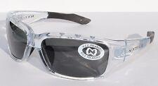 NATIVE EYEWEAR Bolder POLARIZED Sunglasses Crystal Clear Black/Gray NEW $109