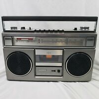 Vintage Sony CFS-55 AM/FM Stereo Cassette-Corder 2 Bands Radio Boom Box Recorder