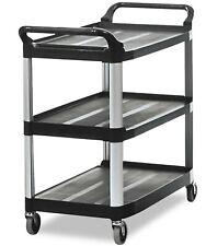 Rubbermaid Commercial Open Sided Utility Cart Three Shelf 40 5