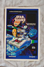 Star Tours promotional poster 1980s Star Wars Tomorrowland #1