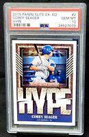 2015 Elite Extra Hype RC Dodgers Star COREY SEAGER Rookie Card PSA 10 GEM Pop 4