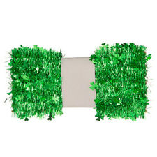 Darice St. Patrick's Day Green Tinsel Shamrock Garland: 50 feet w
