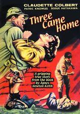 THREE CAME HOME (DVD) DRAMA WW II WOMEN'S POW CAMP