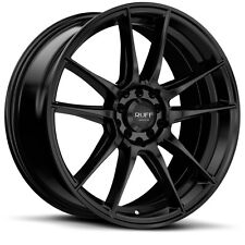 18 inch 18x8 RUFF R364 Satin Black wheel rim 4x100 +38