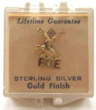 Vtg Sterling Silver FOE Fraternal Order Of The Eagles Pin Button Clean!