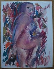 """ROBERT CALIX (1919/2008) Gouache  -"""" NU FEMININ """"  Signé"""