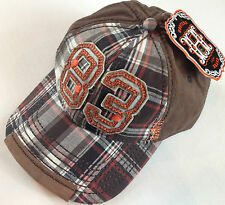Hooters Hat Snapback Official Hot Girls Plaid 1983 Cap NEW Sewn Wings Beer Funny