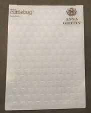 Cricut Cuttlebug Anna Griffin Embossing Folder Dainty Hearts