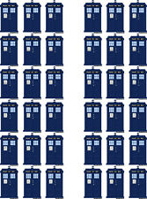 Tardis, Dr Who Edible Wafer Paper Cupcake Toppers x 36