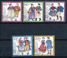 Bundespost 1696-1700 gestempeld motief klederdrachten
