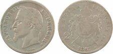 Second Empire, 2 Francs tête laurée, 1867 BB = Strasbourg, argent - 88