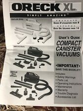 Oreck XL Canister Compact Handheld Vacuum User Manual
