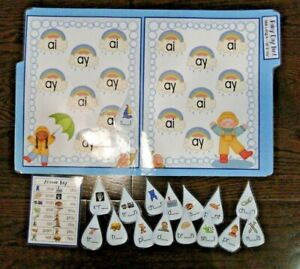 Rainy Day Fun Long A Vowel Team ai & ay File Folder Game Literacy Centers