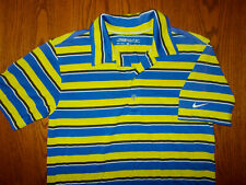 NIKE GOLF DRI-FIT SHORT SLEEVE STRIPED POLO SHIRT BOYS MEDIUM NICE CONDITION