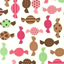 Dessert Party Vanilla Candy Cotton Fabric By The Yard from Robert Kaufman