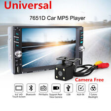 """6.6"""" Touch Screen MP5 2DIN Bluetooth FM Radio Stereo Player Rear Cam For Car Set"""