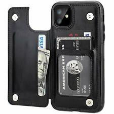 Leather Flip Wallet Card Holder Case Cover For Apple iPhone 11 Pro Max 8 7 Plus