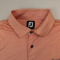 Footjoy Mens Polo Shirt Augusta Pines Orange Short Sleeve Golf Size Large