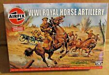 AIRFIX WW1 ROYAL HORSE ARTILLERY 1:76 SCALE MODEL SOLDIERS HORSES GUN PLASTIC