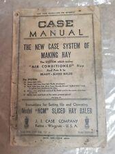 Case Model NCM Sliced Hay Baler Manual, Racine, WI