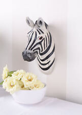 Wandfigur Tiertrophäe Zebrakopf Wandkopf Zebra